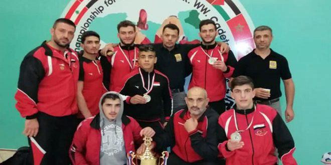 سبع ميداليات متنوعة لسورية في بطولة العرب للمصارعة