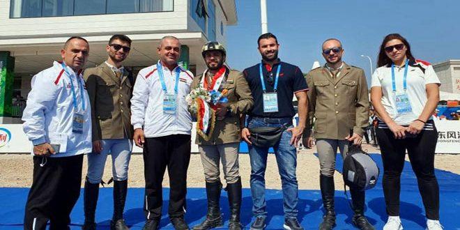 الفارس همام شهاب يحرز برونزية في أولمبياد الألعاب العسكرية بالصين