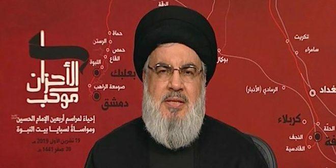 السيد نصر الله: على جميع اللبنانيين تحمل المسؤولية أمام الوضع الخطير الذي يواجهه البلد