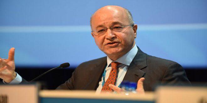 الرئيس العراقي يدعو المتظاهرين لضبط النفس واحترام القانون