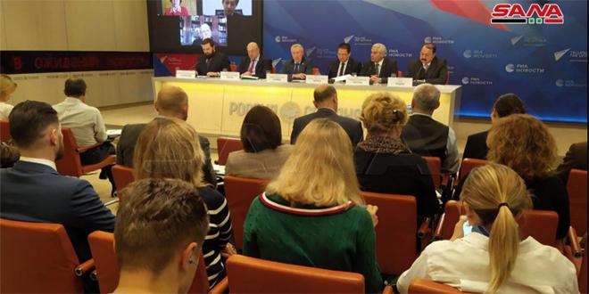 بمشاركة سورية.. ندوة في موسكو حول حق الدول في الدفاع عن استقلالها
