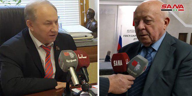 روسيان يدينان العدوان الإسرائيلي على الأراضي السورية