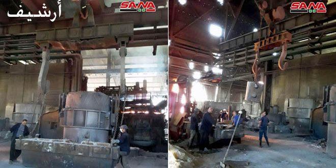 عمال شركة المنتجات الحديدية بحماة ينجحون بتشغيل معمل الأوكسجين بطاقة إنتاجية 2500 م3 بالساعة