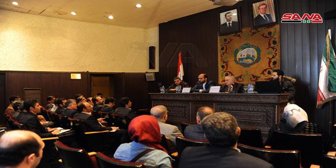 وفد من الشركات الإيرانية يبحث في غرفة تجارة دمشق تعزيز التعاون الاقتصادي والتجاري