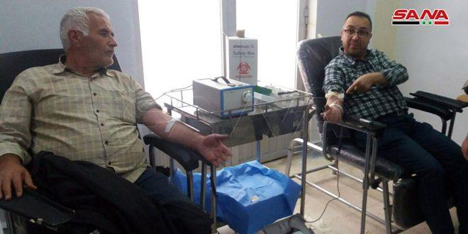 حملة تبرع بالدم دعماً لجرحى الجيش العربي السوري في القنيطرة