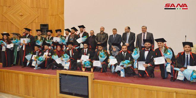 جامعة البعث  تحتفل بتخريج الدفعة الأولى من كلية طب الأسنان