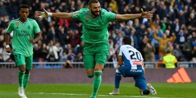 ريال مدريد يتصدر الدوري الإسباني بعد فوزه على إسبانيول