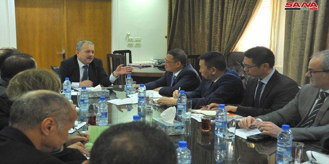 سورية والصين تبحثان توسيع التعاون في مجال مشاريع المياه