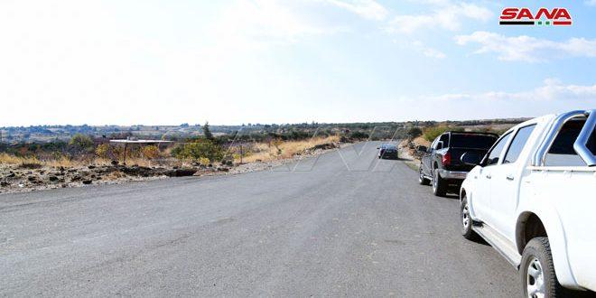 افتتاح طريق يربط بين حرفا بريف دمشق وحضر في القنيطرة