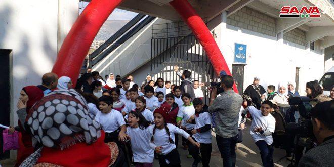 """انطلاق """"ماراثون دمشق الأول"""" لدعم الأشخاص ذوي الإعاقة الذهنية من مدينة الفيحاء الرياضية"""