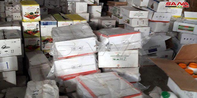 ضبط ومصادرة شاحنات ومستودعات تحوي كميات من البضائع التركية المهربة بحماة