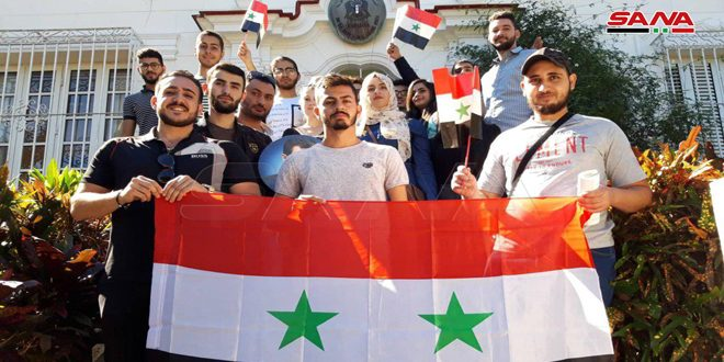 طلبتنا في كوبا يجددون وقوفهم إلى جانب وطنهم سورية