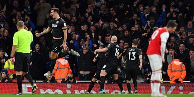 برايتون يتغلب على أرسنال في الدوري الإنكليزي بكرة القدم
