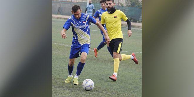 النواعير يتفوق على عمال حماة بثلاثية نظيفة في مباراة ودية بكرة القدم