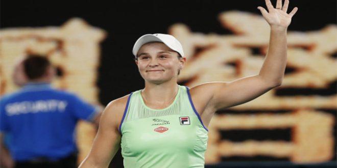 فوز بارتي على تسورنكو في بطولة أستراليا المفتوحة للتنس