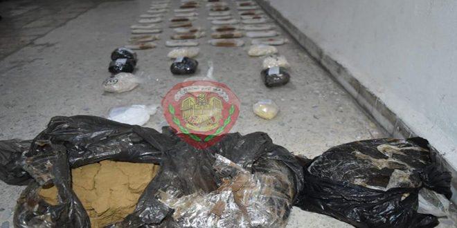 الأمن الجنائي بحمص يلقى القبض على شخصين من مروجي المخدرات