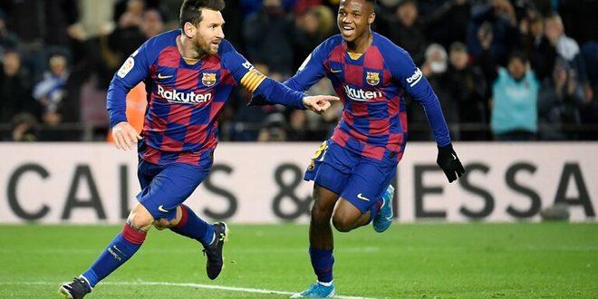 هدف ميسي يهدي برشلونة فوزاً صعباً على غرناطة 1-صفر
