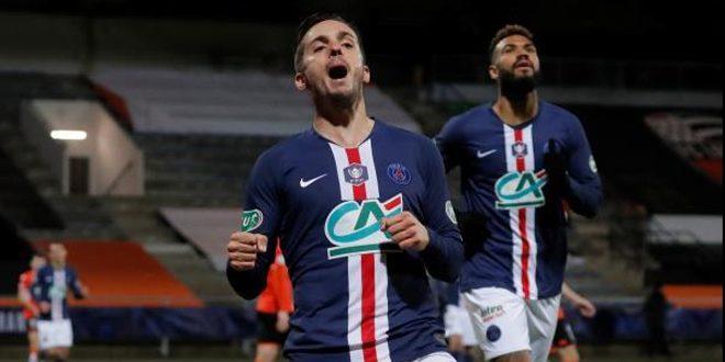 سارابيا يسجل قرب النهاية ليتأهل باريس سان جيرمان في كأس فرنسا