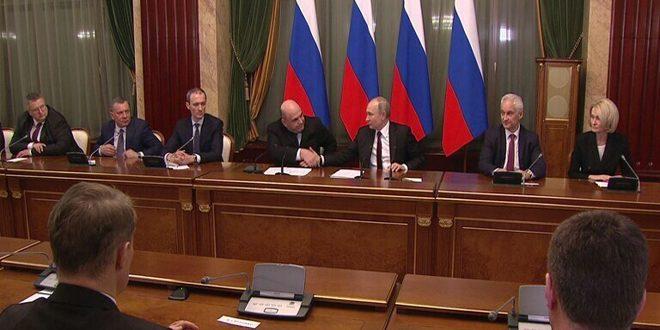 بوتين يصدر مرسوم تشكيل الحكومة الروسية الجديدة