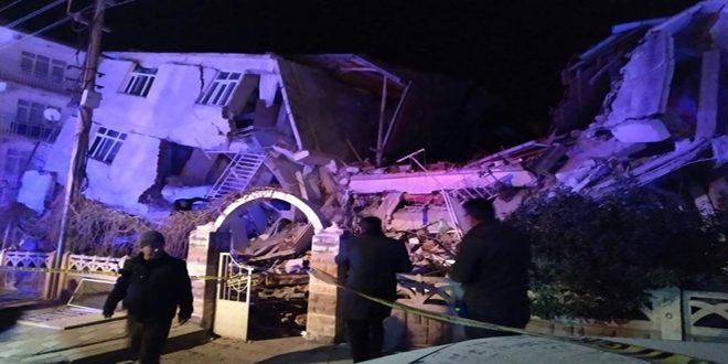 تواصل عمليات البحث عن ناجين من زلزال قضى على 29 شخصاً شرق تركيا