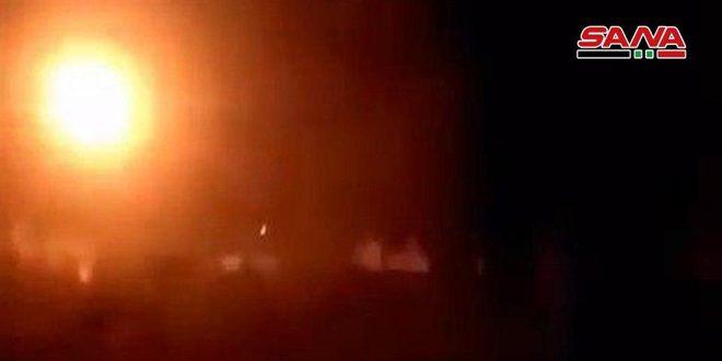 الجيش العربي السوري يستهدف أوكار وتحصينات المجموعات الإرهابية غرب حلب