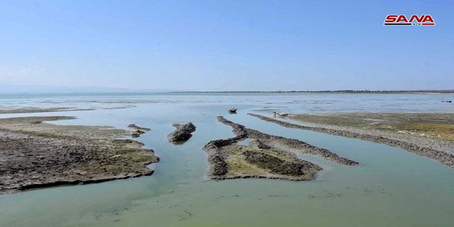 ارتفاع نسب تخزين بحيرة قطينة في حمص نتيجة الهطولات المطرية