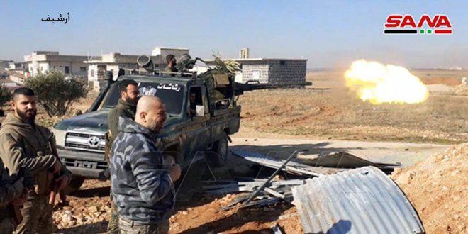 الجيش يتصدى لهجوم شنه إرهابيو (جبهة النصرة) على محور أبو دفنة بريف إدلب الجنوبي الشرقي