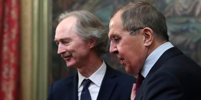 لافروف وبيدرسون: ضرورة القضاء على الإرهاب في إدلب