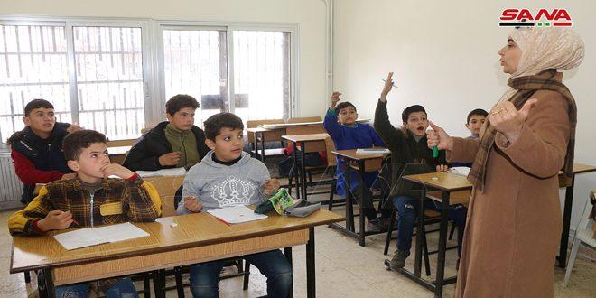 معهد التربية الخاصة للإعاقة الذهنية في درعا يعاود استقبال الطلاب بعد توقفه لسنوات جراء الإرهاب