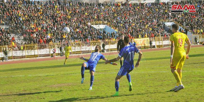 تشرين يعزز صدارته لدوري كرة القدم والوحدة يقتنص الفوز من الكرامة