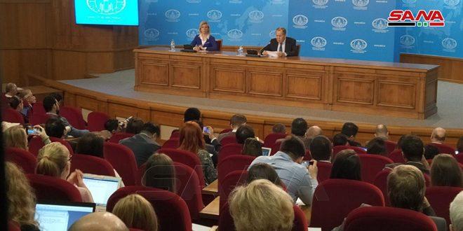 لافروف: مكافحة الإرهاب في سورية وإيجاد حل سياسي للأزمة فيها أولوية لروسيا