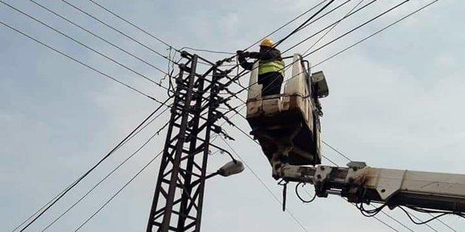 كهرباء الحسكة: إعادة تغذية مدينة القامشلي بالكهرباء بعد صيانة العطل الفني