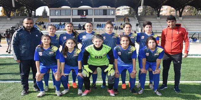 فريق عامودا يتوج بلقب دوري كرة القدم للسيدات