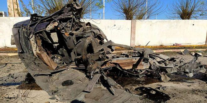 استشهاد 5 مدنيين بينهم أطفال ونساء وإصابة 7 بانفجار سيارة مفخخة في مدينة تل أبيض بريف الرقة