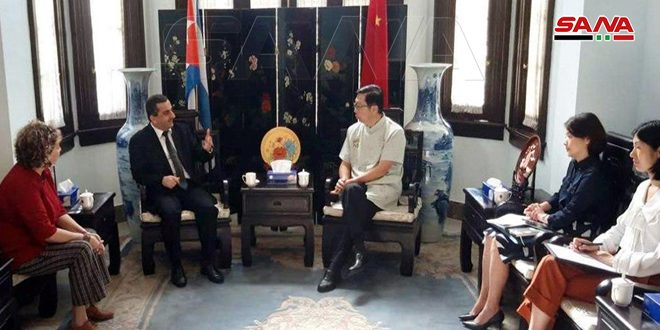 سفير الصين في كوبا: ندعم سورية في حربها على الإرهاب