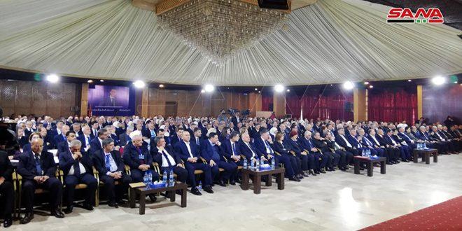 المشاركون في المؤتمر الـ 27 لاتحاد نقابات العمال يوجهون برقية شكر وتقدير للسيد الرئيس بشار الأسد