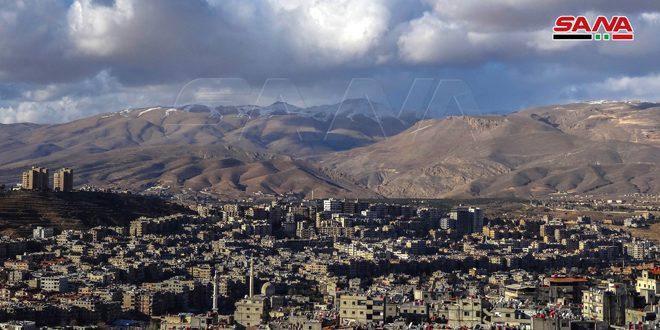 أمطار متفرقة في عدة محافظات أغزرها بالحرمون في ريف دمشق 16 مم