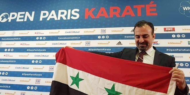 مشاركة ناجحة للحكم الدولي أمجد عبيد في بطولة فرنسا المفتوحة للكاراتيه