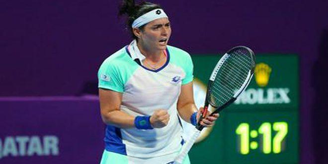 أنس جابر تبلغ ثمن نهائي بطولة قطر لكرة المضرب