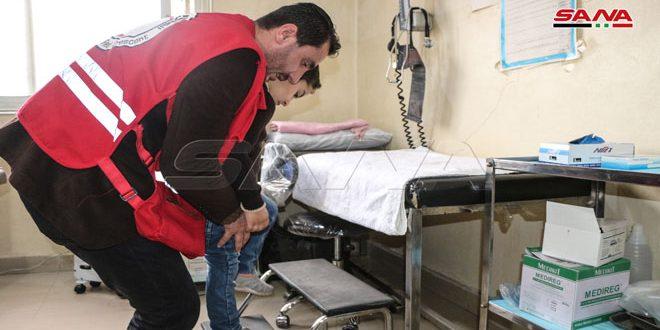 برنامج العلاج الفيزيائي الجوال للإصابات الحركية.. أحد برامج فرع الهلال الأحمر في درعا