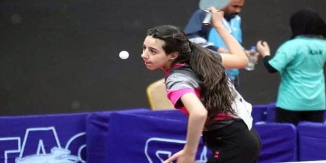 لاعبة منتخب سورية لكرة الطاولة هند ظاظا تتأهل لأولمبياد طوكيو