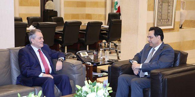 دياب يبحث مع عبد الكريم العلاقات السورية اللبنانية