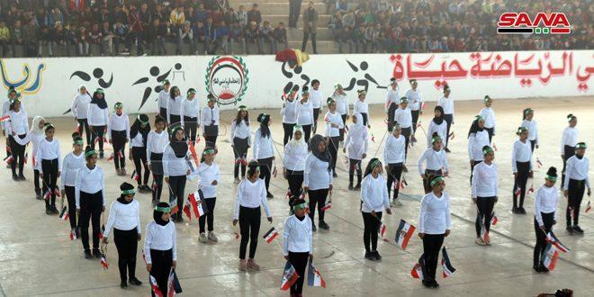 اللجنة التنفيذية للاتحاد الرياضي بدير الزور تقيم مهرجاناً رياضياً