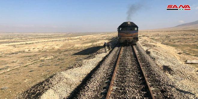 أكثر من 83 ألف طن زيادة في كميات المواد المحملة والمفرغة عبر الخطوط الحديدية بحمص 