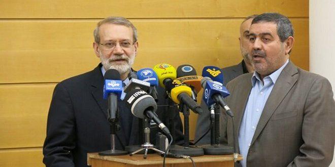 لاريجاني يؤكد دعم بلاده الكامل للمقاومة والحكومة اللبنانية