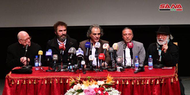 مؤتمر صحفي لأسرة مسلسل وفيلم حارس القدس بمناسبة انتهاء عمليات التصوير – S A N A