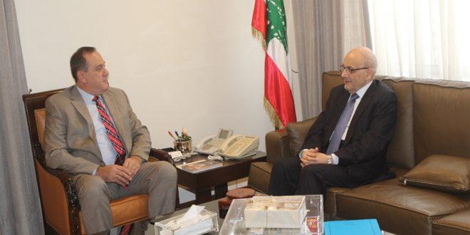 حب الله وخوري يبحثان تطوير العلاقات بين سورية ولبنان