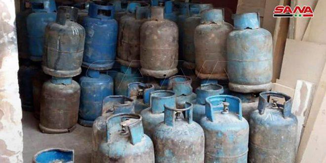 ضبط معتمد غاز يحتكر 47 أسطوانة بمستودع أخشاب في حمص