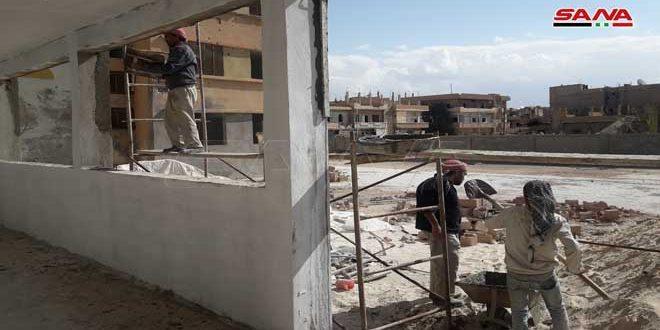 المباشرة بترميم مدرسة الشهيد محمد جودت العبد الله بتدمر التي تضررت جراء الإرهاب