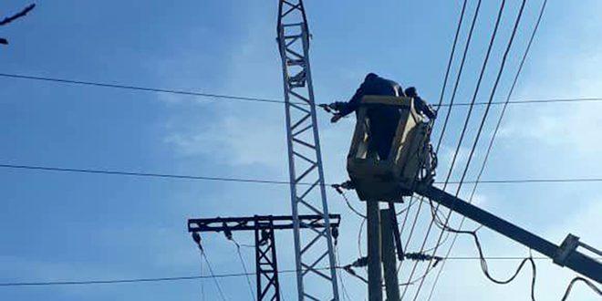 رفع استطاعة عدة مراكز تحويل كهربائية في مدينتي اللاذقية وجبلة